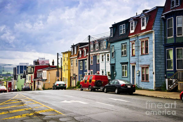 Photograph - Colorful Houses In St. John's Newfoundland by Elena Elisseeva