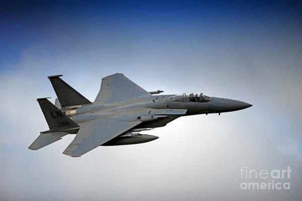 Mach Loop Photograph - F-15e Strike Eagle Low Flying by Andrew Chittock
