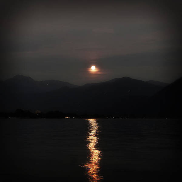 Ticino Photograph - Full Moon by Joana Kruse
