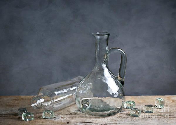 Refraction Wall Art - Photograph - Glass by Nailia Schwarz