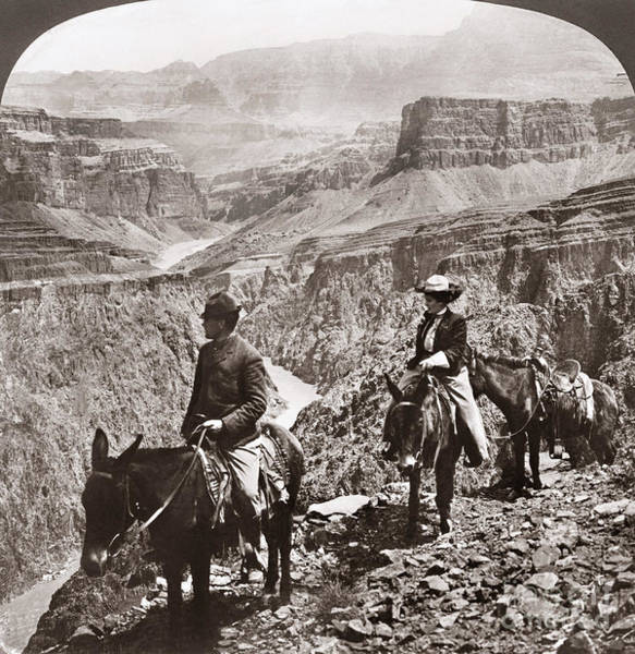 Photograph - Grand Canyon: Sightseers by Granger