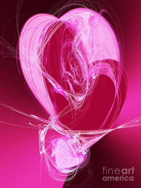 Sweetheart Digital Art - 3 Hearts by Andee Design