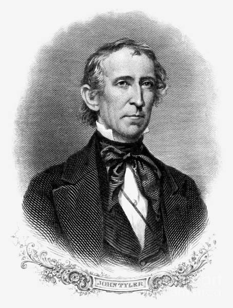 Whig Photograph - John Tyler (1790-1862) by Granger