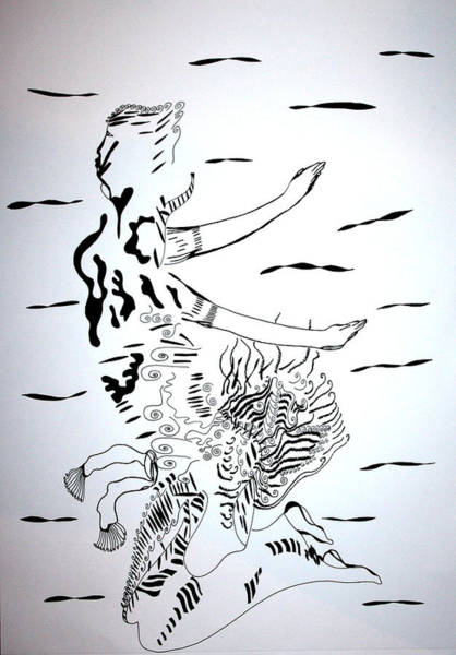 Drawing - Kiganda Dance - Uganda by Gloria Ssali