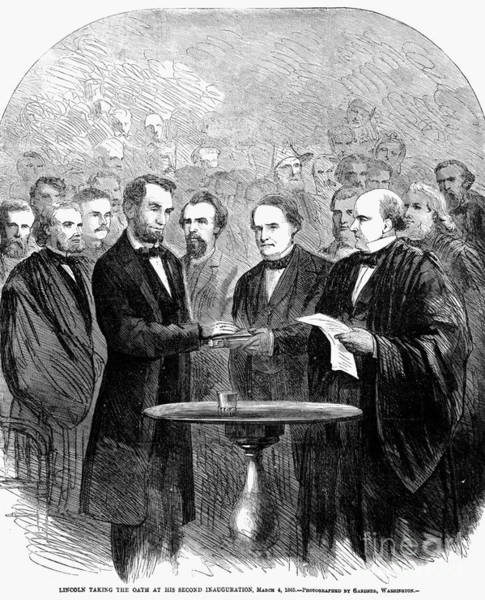 Vows Photograph - Lincolns Inauguration by Granger