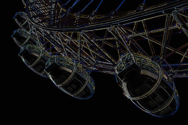Wall Art - Digital Art - London Eye Digital Image by David Pyatt