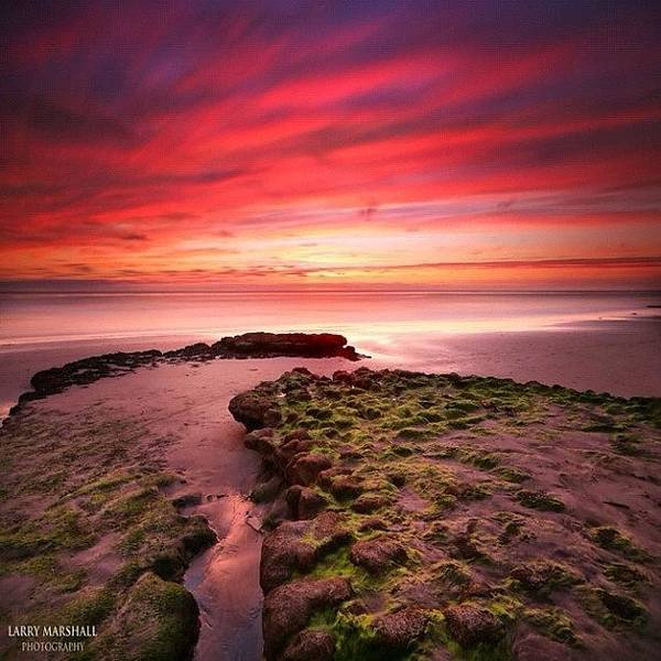 Wall Art - Photograph - Long Exposure Sunset At A North San by Larry Marshall