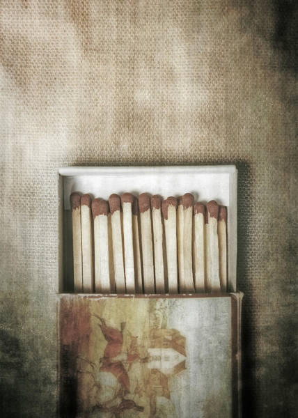 Flammable Photograph - Matches by Joana Kruse