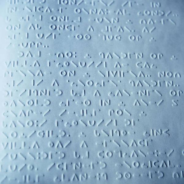 Written Language Photograph - Moon Braille by Cristina Pedrazzini