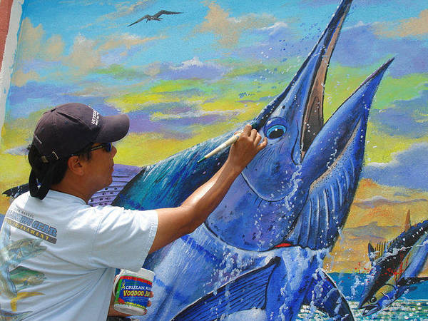 Mako Painting - Mural In St Thomas by Carey Chen
