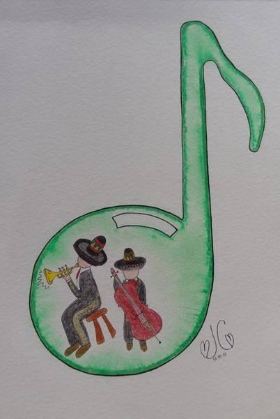 Mariachi Drawing - Musical Mariachi by Jessica Cruz