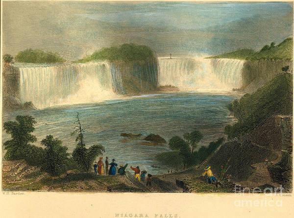 Photograph - Niagara Falls, 1837 by Granger