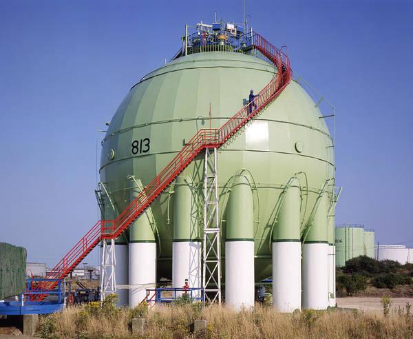 Liquify Photograph - Oil Refinery Storage Tank by Paul Rapson