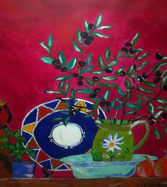 Olive Oil Painting - Olives by Julie Butterworth