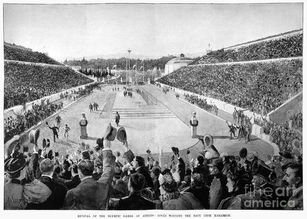 Athens Marathon Wall Art - Photograph - Olympic Games, 1896 by Granger