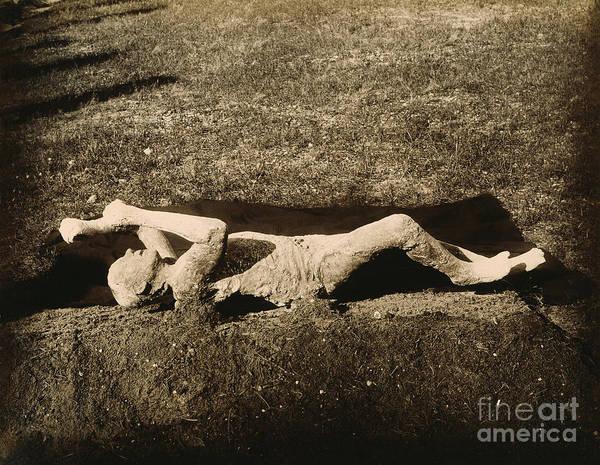 Photograph - Pompeii: Plaster Cast by Granger