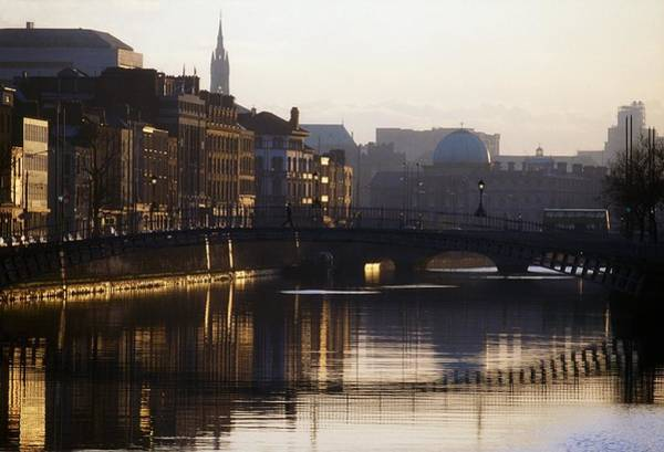 Horizontally Photograph - River Liffey, Dublin, Co Dublin, Ireland by The Irish Image Collection