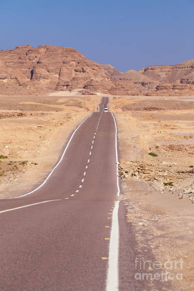Straight Ahead Wall Art - Photograph - Road To Saint Catherine's Monastery In The Sinai Desert In Egypt by Roberto Morgenthaler