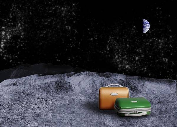 Planets And Moons Digital Art - Space Tourism, Conceptual Artwork by Victor Habbick Visions