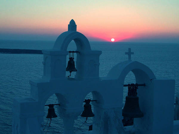Photograph - Sunset Santorini Greece by Colette V Hera  Guggenheim