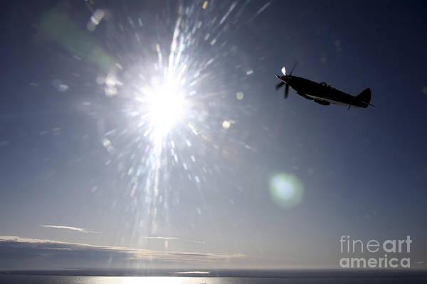 Interceptor Photograph - Supermarine Spitfire Mk. Xviii Fighter by Daniel Karlsson
