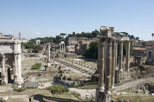 City Scape Photograph - Temple Of Saturn In The Forum Romanum. Rome by Bernard Jaubert