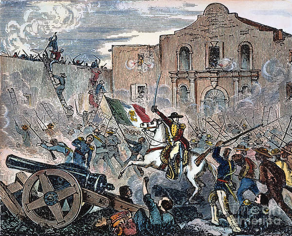 Siege Photograph - Texas: The Alamo, 1836 by Granger