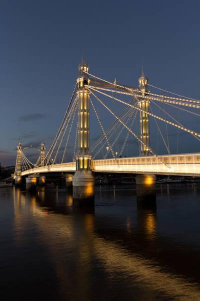 Wall Art - Photograph - The Albert Bridge London by David Pyatt