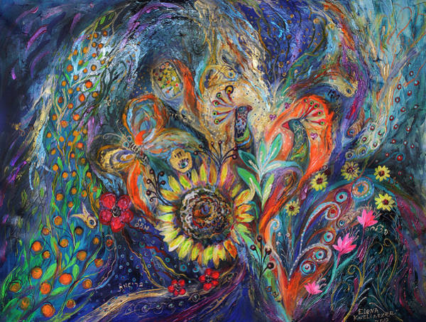 Priestly Blessing Painting - The Sunflower by Elena Kotliarker