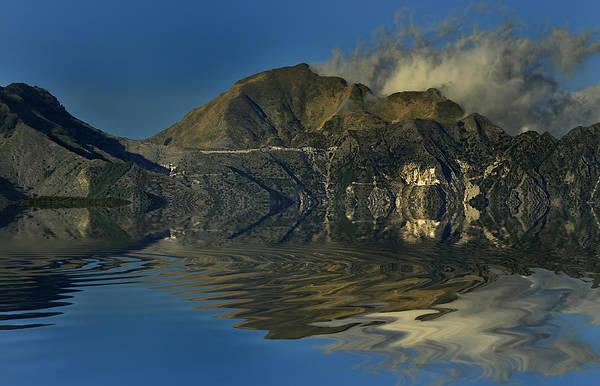 Photograph - Tuscany Apuane Mounts Marble Caves Landscape by Enrico Pelos