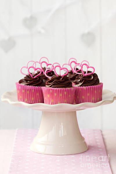 Fairy Cake Wall Art - Photograph - Valentine Cupcakes by Ruth Black