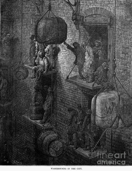 Barrels Drawing - London by Gustave Dore