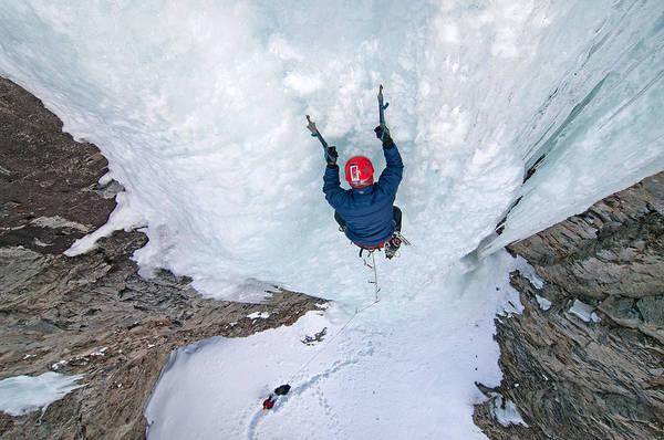 David Weber Photograph - Ice Climber by Elijah Weber