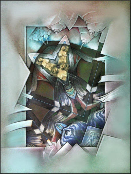 Mixed Media - #30 Twinude 2003 by Glenn Bautista