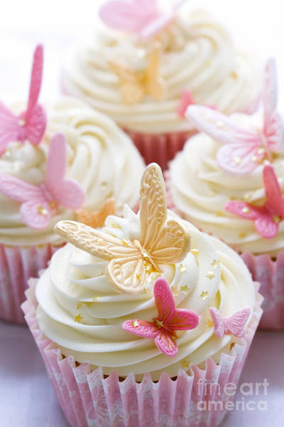 Wedding Cake Photograph - Wedding Cupcakes by Ruth Black