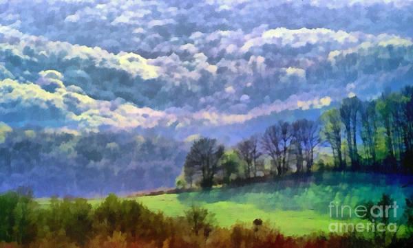 Digitalart Painting - Landscape by Odon Czintos