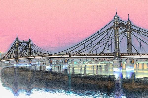 Wall Art - Digital Art - Albert Bridge London by David Pyatt