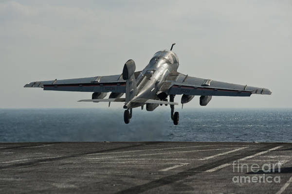 Prowler Photograph - An Ea-6b Prowler Launches by Stocktrek Images