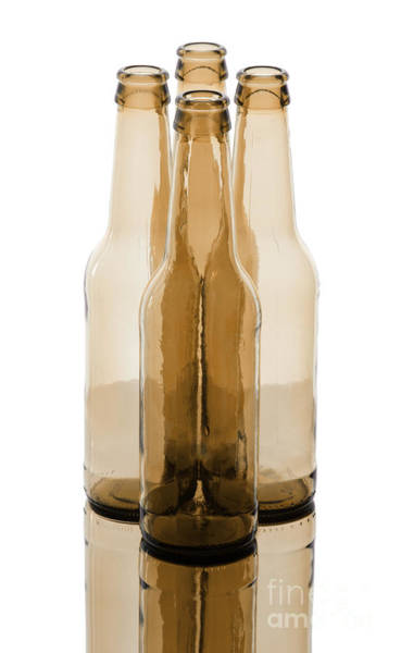 Wall Art - Photograph - Beer Bottles by Blink Images