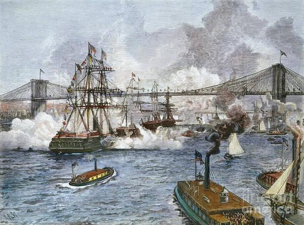 Photograph - Brooklyn Bridge Opening by Granger