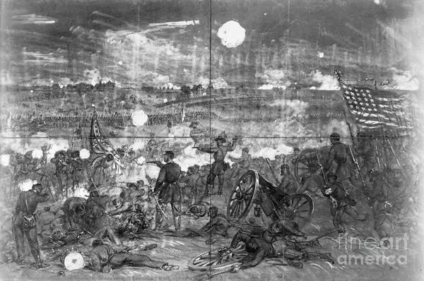 Gettysburg Battlefield Photograph - Civil War: Gettysburg by Granger