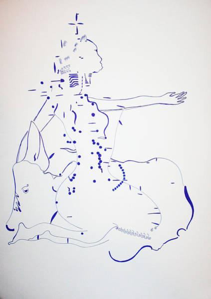 Dinka People Drawing - Dinka Bride - South Sudan by Gloria Ssali