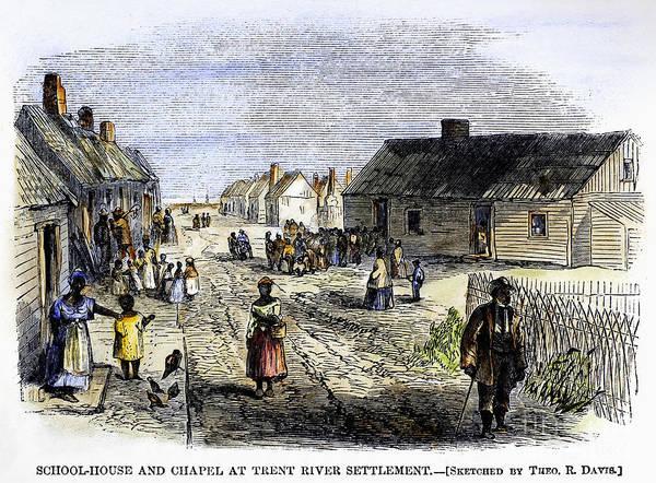 Freedmens Bureau Photograph - Freedmens Village, 1866 by Granger
