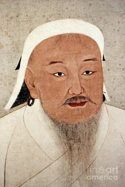 Photograph - Genghis Khan (1162-1227) by Granger