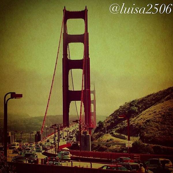 Travel Photograph - Golden Gate by Luisa Azzolini