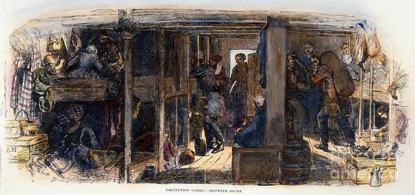 Photograph - Irish Immigrants, 1851 by Granger