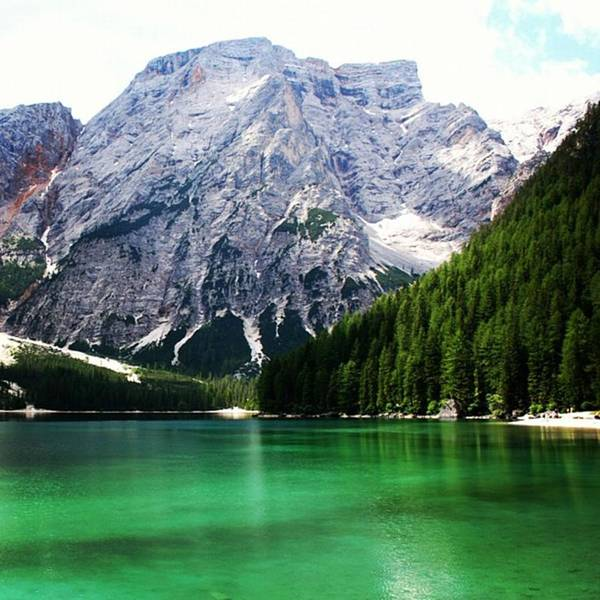 Mountain Wall Art - Photograph - Lago Di Braies by Luisa Azzolini