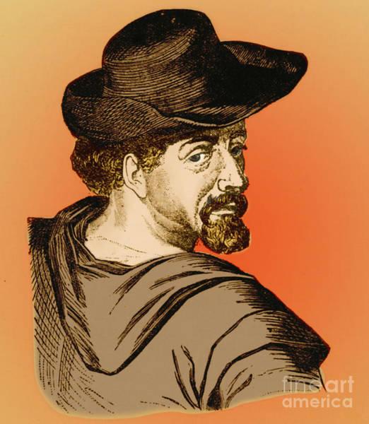 Man Of La Mancha Wall Art - Photograph - Miguel De Cervantes, Spanish Author by Photo Researchers