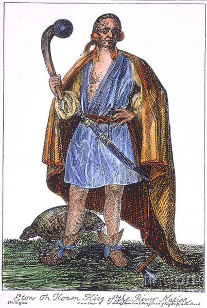 Wall Art - Photograph - Mohawk Chief, 1710 by Granger