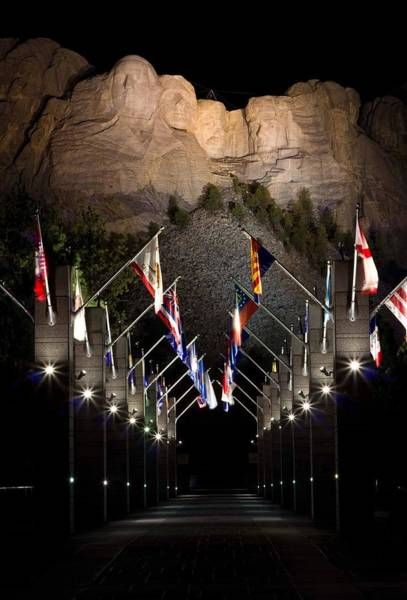 Wall Art - Photograph - Mount Rushmore At Night by Twenty Two North Photography